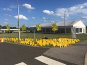 'The Sea of Hands of Support' outside of the AJ Bell Stadium