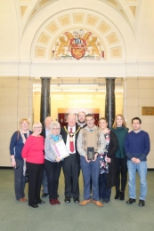Some of the START team with the Ceremonial Mayor Peter Connor