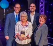 Bernadette Conlon and Salford CCG Celebrate STARTs award win.