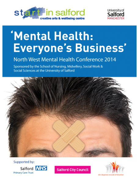 Ticket to North West Mental Health Conference 2014 - 'Mental Health: Everyone's Business'